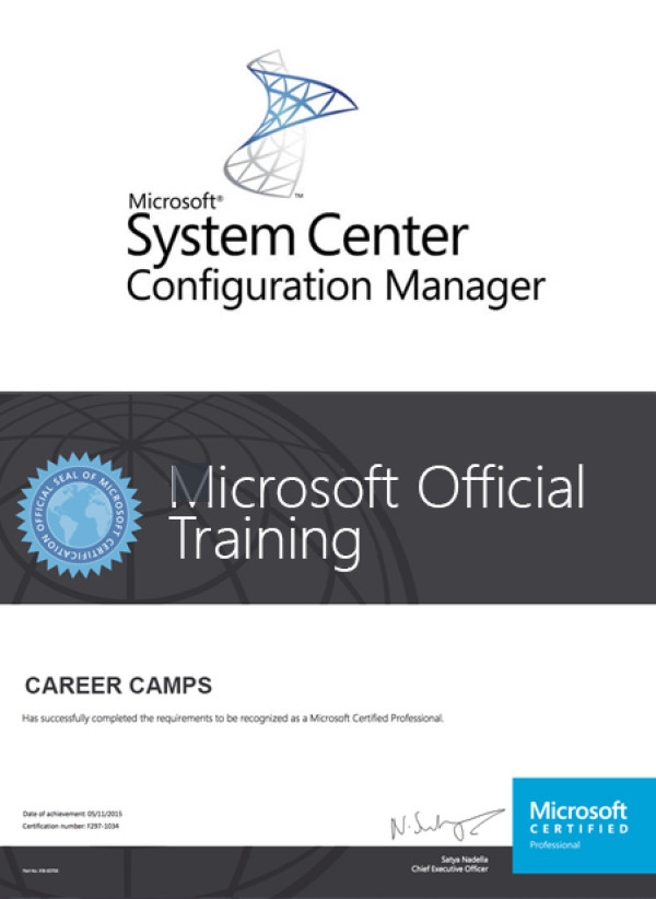 Mcs System Center Configuration Manager Sccm Certification Camp
